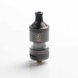 Authentic KIZOKU Limit MTL / DL RTA Rebuildable Tank Vape Atomizer - Gunmetal Sandblasted, SS + Pyrex Glass, 3ml, 22mm Diameter