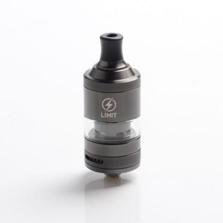 Authentic KIZOKU Limit MTL / DL RTA Rebuildable Tank Vape Atomizer - Gunmetal Sandblasted, SS + Pyrex Glass, 3ml, 22mm Diameter