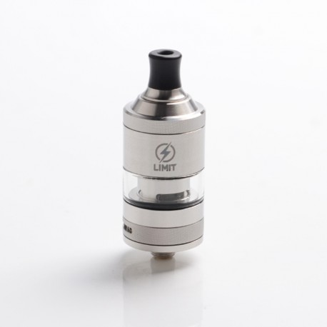 Authentic KIZOKU Limit MTL / DL RTA Rebuildable Tank Vape Atomizer - SS-Brushed, Stainless Steel + Pyrex Glass, 3ml, 22mm Dia.