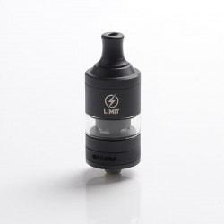 Authentic KIZOKU Limit MTL / DL RTA Rebuildable Tank Vape Atomizer - Black, Stainless Steel + Pyrex Glass, 3ml, 22mm Diameter