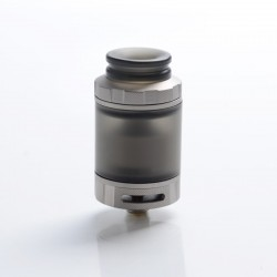 Authentic Hellvape Destiny RTA Rebuildable Tank Atomizer - Matte Stainless Steel + PCTG, 4ml, 24mm Diameter