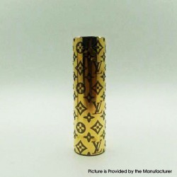 Rogue Style Hybrid Mechanical Vape Mod - Black + Gold, Brass, 1 x 18650