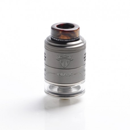 Authentic ThunderHead Creations THC Tauren Max RDTA Rebuildable Dripping Tank Vape Atomizer - Gunmetal, SS, 2ml/4.5ml, 25mm Dia.