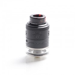 Authentic ThunderHead Creations THC Tauren Max RDTA Rebuildable Dripping Tank Vape Atomzier - Black, SS, 2ml / 4.5ml, 25mm Dia.