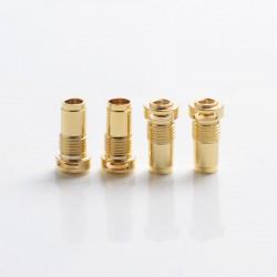 SXK Replacement Airflow Inserts for Bridg'D MTL / DL RBA Vape Kit - Gold, 12 x 6mm, 1.5mm + 2mm + 3mm + 3.5mm (4 PCS)