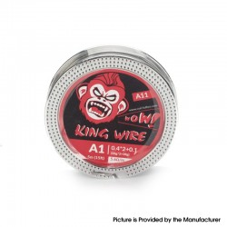 Authentic Coil Father King A11 Wire Spool for RDA / RTA /RDTA - Kanthal A1, 0.4 x 2 + 0.1 (26GA x 2 + 38GA), 5.6ohm/ft (5m/15ft)