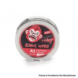 Authentic Coil Father King A11 Wire Spool for RDA / RTA /RDTA - Kanthal A1, 0.4 x 3 + 0.1 (26GA x 3 + 38GA), 3.8ohm/ft (5m/15ft)