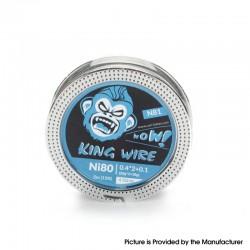 Authentic Coil Father King N81 Wire Spool for RBA / RDA / RTA /RDTA - Ni80, 0.4 x 2 + 0.1 (26GA x 2 + 38GA), 4.5ohm/ft (5m/15ft)