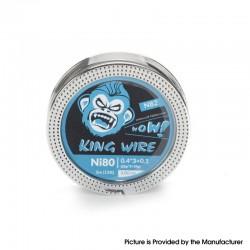 Authentic Coil Father King N82 Wire Spool for RBA / RDA / RTA /RDTA - Ni80, 0.4 x 3 + 0.1 (26GA x 3 + 38GA), 3.0ohm/ft (5m/15ft)