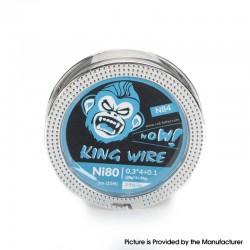 Authentic Coil Father King N84 Wire Spool for RBA / RDA / RTA /RDTA - Ni80, 0.3 x 4 + 0.1 (28GA x 4 + 38GA), 3.9ohm/ft (5m/15ft)