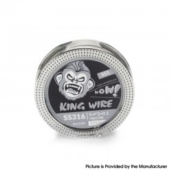 Authentic Coil Father King SS1 Wire Spool for RBA / RDA / RTA/RDTA - 316SS, 0.4 x 2 + 0.1 (26GA x 2 + 38GA), 3.2ohm/ft (5m/15ft)