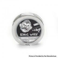 Authentic Coil Father King SS2 Wire Spool for RBA / RDA / RTA/RDTA - 316SS, 0.4 x 3 + 0.1 (26GA x 3 + 38GA), 2.1ohm/ft (5m/15ft)
