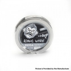 Authentic Coil Father King SS4 Wire Spool for RBA / RDA / RTA/RDTA - 316SS, 0.3 x 4 + 0.1 (28GA x 4 + 38GA), 2.9ohm/ft (5m/15ft)