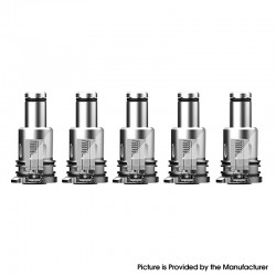 Authentic Augvape Narada Pro VW Mod Vape Kit / Cartridge Replacement MTL Coil Head - Silver, 1.0ohm (5 PCS)