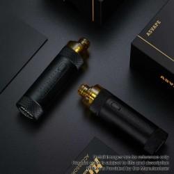 Authentic Asvape Hita 30W 1000mAh Mech Mod RBA Pod System Vape Starter Kit - Carbon Black, 3ml, 0.5ohm / 1.0ohm, 5~30W