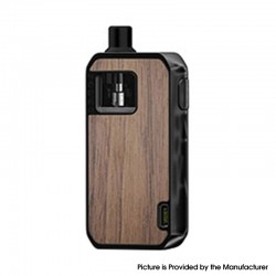 Authentic Augvape Druga Narada 1100mAh Box Mod Pod System Vape Starter Kit - Gunmetal Wooden, Zinc Alloy, 2.8ml, 0.5ohm / 0.6ohm