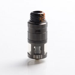 Authentic Vandy Vape Mato RDTA Rebuildable Dripping Tank Atomizer w/ BF Pin - Gun Metal, SS , 5ml, 24mm Diameter