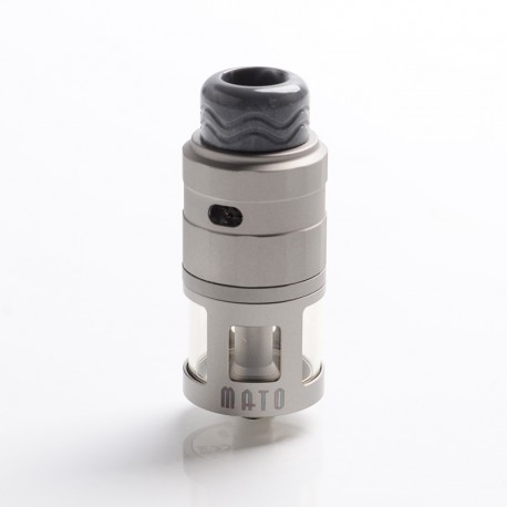 Authentic Vandy Vape Mato RDTA Rebuildable Dripping Tank Atomizer w/ BF Pin - Frosted Grey, SS , 5ml, 24mm Diameter