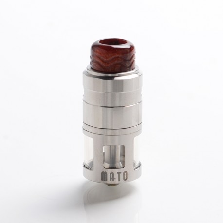 Authentic Vandy Vape Mato RDTA Rebuildable Dripping Tank Atomizer w/ BF Pin - Stainless Steel, SS , 5ml, 24mm Diameter