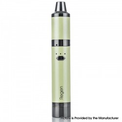 Authentic Yocan Regen 25W 1100mAh Wax Vaporizer Vape Pen Starter Kit w/ QTC & QDC Coils - Apple Green