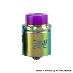 Authentic Starss Alpha Mesh RDA Rebuildable Dripping Vape Atomizer - Rainbow, Stainless Steel, 24mm Diameter