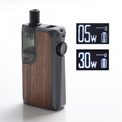 Authentic Augvape Narada Pro 30W VW Pod System Vape MTL / DL Starter Kit - Wood, 5~30W, 3.7ml