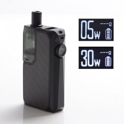 Authentic Augvape Narada Pro 30W VW Pod System Vape MTL / DL Starter Kit - Black Carbon Fiber, 5~30W, 3.7ml