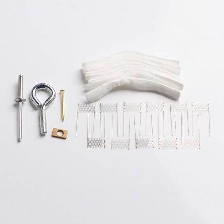 Authentic VAPJOY DIY Rebuild Kit for Voopoo Vinci / Vinci X / Vinci Air Kit - Rod + Cottons + VINCI-VM1 Ni80 Mesh Coils (0.3ohm)