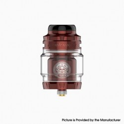 Authentic Geekvape Zeus X Mesh RTA Rebuildable Tank Vape Atomizer - Wine Red, SS + Glass, 4.5ml, 0.17ohm /0.20ohm, 25mm Diameter