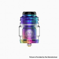 Authentic Geekvape Zeus X Mesh RTA Rebuildable Tank Vape Atomizer - Rainbow, SS + Glass, 4.5ml, 0.17ohm / 0.20ohm, 25mm Diameter