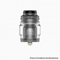 Authentic Geekvape Zeus X Mesh RTA Rebuildable Tank Vape Atomizer - Gunmetal, SS + Glass, 4.5ml, 0.17ohm /0.20ohm, 25mm Diameter