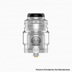 Authentic Geekvape Zeus X Mesh RTA Rebuildable Tank Vape Atomizer - Stainless Steel, SS + Glass, 4.5ml, 0.17 /0.20ohm, 25mm Dia.