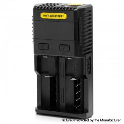 Authentic Nitecore SC2 3A Dual-Slot Quick Charge Intelligent Battery Charger for 18650 / 20700 / 21700 / 26500 / 26650 - AU Plug