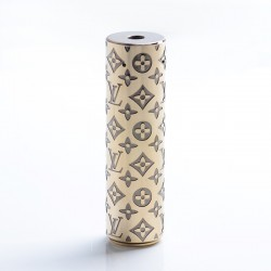 Rogue Style Hybrid Vape Mechanical Mod - Black + Gold, Brass, 1 x 18650