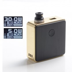 [Ships from Battery Warehouse] Authentic SXK Bantam Revision 30W VW Vape Box Mod Kit w/ 18350 - Gold Plating, 5~30W, 1 x 18350