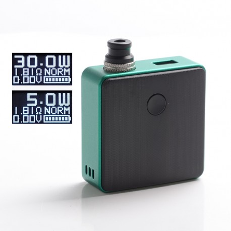 Authentic SXK Bantam Revision 30W VW Variable Wattage Vape Box Mod Kit w/o 18350 Battery - Green, 5~30W, 1 x 18350, SEVO-30