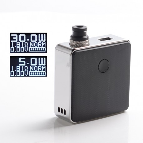 [Ships from Battery Warehouse] Authentic SXK Bantam Revision 30W VW Vape Box Mod Kit w/ 18350 - Silver Plating, 5~30W, 1 x 18350