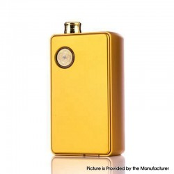 Authentic dotMod dotAIO 35W Ultra MTL / DTL Portable AIO Pod System Vape Starter Kit - Gold, 0.3ohm / 1.6ohm, 2.0ml, 1 x 18650