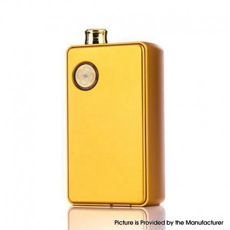 Authentic dotMod dotAIO 35W Ultra MTL / DTL Portable AIO Pod System Vape Starter Kit - Gold, 0.3ohm / 1.6ohm, 2.0ml, 1 x 18650