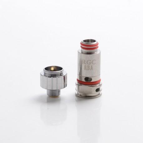 Authentic SMOKTech SMOK RPM80 / RPM80 Pro Pod System Vape Kit Replacement RGC RBA Clapton Fe-Cr /NiCr Coil Head - Silver, 0.6ohm