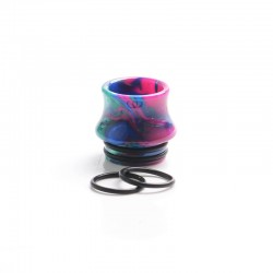 Authentic Reewape AS300 Replacement 810 Drip Tip for SMOK TFV8 / TFV12 Tank / Kennedy / Battle /Reload RDA - Purple, Resin, 15mm