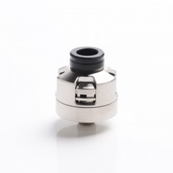 Vapeasy Armor Engine Style RDA Rebuildable Dripping Atomizer w/ BF Pin - Silver, 316 Stainless Steel, 22mm Diameter