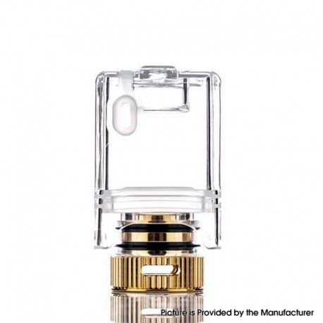 Authentic dotMod dotAIO Pod System Vape Kit Replacement Empty Tank w/ Coil Adapter - Transparent, 2ml