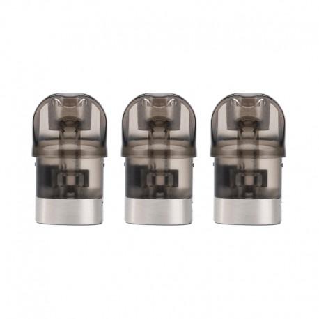 Authentic IJOY MIPO Pod System Vape Kit Replacement Cartridge w/ 1.4ohm KA1 Coil - Black + Silver, 1.4ml (3 PCS)