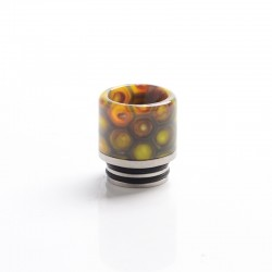 Authentic Coil Father Anti Split 810 Drip Tip for SMOK TFV8 / TFV12 Tank / Kennedy / Battle RDA - Honeycomb Yellow, Resin, 17mm