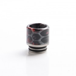 Authentic Coil Father Anti Split 810 Drip Tip for SMOK TFV8 / TFV12 Tank / Kennedy/Battle RDA - Honeycomb Black Red, Resin, 17mm