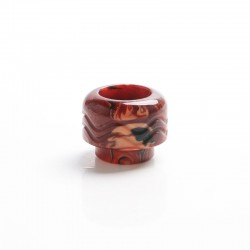 Authentic Vandy Vape Mato RDTA Vape Atomizer Replacement 810 Drip Tip - Red Brown, Resin, 14.2mm