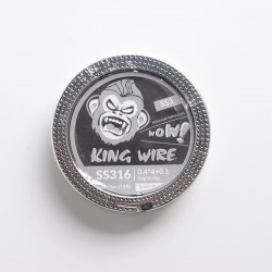 Authentic Coil Father King SS3 Wire Spool for RBA / RDA / RTA/RDTA - 316SS, 0.4 x 4 + 0.1 (26GA x 4 + 38GA), 1.6ohm/ft (5m/15ft)