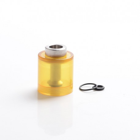 Steam Tuners Style Replacement Bell Cap + Chimney for Flash e-Vapor E-Vapor V4.5 Style RTA - Brown, PEI + SS, 23mm Diameter
