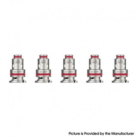 Authentic Vaporesso Target PM80 Mod Pod Vape Kit / Catridge GTX FeCrAl Restricted DTL Mesh Coil Head - 0.6ohm (20~30W) (5 PCS)